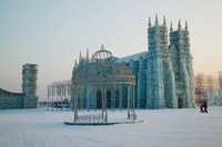 Ice cathedral at the Harbin International Ice and Snow Sculpture Festival, Harbin, Heilungkiang Province, China by Panoramic Images - various sizes, FulcrumGallery.com brand