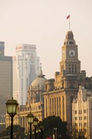 Buildings in a City, The Bund, Shanghai, China Fine Art Print