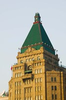Low angle view of a hotel, Peace Hotel, The Bund, Shanghai, China Fine Art Print