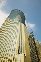 Low angle view of a building, Bank of China Tower, Century Avenue, Pudong, Shanghai, China Fine Art Print