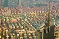 Aerial view of housing, Shanghai, China by Panoramic Images - various sizes