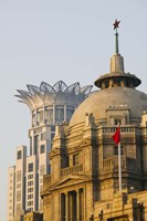 Buildings in The Bund at dawn, Shanghai, China by Panoramic Images - various sizes