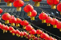 Red Lanterns, Shanghai, China by Panoramic Images - various sizes, FulcrumGallery.com brand