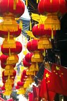 Festive lanterns at bazaar, Yu Yuan Gardens, Shanghai, China by Panoramic Images - various sizes, FulcrumGallery.com brand