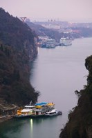 Ferries at anchor, Yangtze River, Yichang, Hubei Province, China by Panoramic Images - various sizes - $54.99