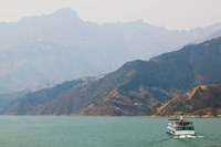 Ferry in a river, Xiling Gorge, Yangtze River, Hubei Province, China Fine Art Print