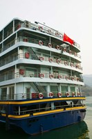 Yangtze River Cruise Ship, Yangtze River, Chongqing Province, China Fine Art Print
