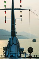 River Traffic on the Yangzi River northeast of Fengdu Town, Chongqing, China Fine Art Print