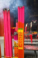 Memorial incenses, Mingshan, Fengdu Ghost City, Fengdu, Yangtze River, Chongqing Province, China by Panoramic Images - various sizes