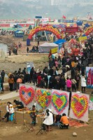 Ciqikou carnival by the Jialing River during Chinese New Year, Ciqikou, Chongqing, China by Panoramic Images - various sizes