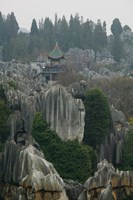 Observation tower on limestone formations, The Stone Forest, Shilin, Kunming, Yunnan Province, China by Panoramic Images - various sizes