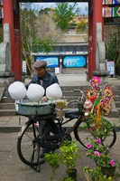 Candy Floss Vendor selling Cotton Candies in Old Town Dali, Yunnan Province, China by Panoramic Images - various sizes