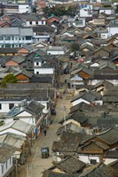 High angle view of houses in a village, Tianshengying, Erhai Hu Lake Area, Yunnan Province, China by Panoramic Images - various sizes