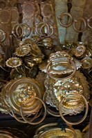 Brass items for sale in a street market, Old Town, Lijiang, Yunnan Province, China by Panoramic Images - various sizes