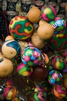 Painted gourds for sale in a street market, Old Town, Lijiang, Yunnan Province, China by Panoramic Images - various sizes