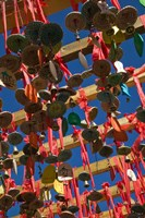 Buddhist prayer wishes (Ema) hanging at Jade Dragon Snow Mountain Scenic Area, Lijiang, Yunnan Province, China by Panoramic Images - various sizes