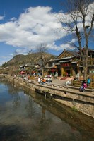 Buildings along Yu River Canal, Old Town, Lijiang, Yunnan Province, China by Panoramic Images - various sizes
