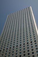 Low angle view of a building, Jardine House, Central District, Hong Kong Island, Hong Kong Fine Art Print