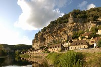 Village at the waterfront, La Roque-Gageac, Dordogne, Aquitaine, France by Panoramic Images - various sizes, FulcrumGallery.com brand
