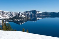 Lake in winter, Crater Lake, Crater Lake National Park, Oregon by Panoramic Images - various sizes