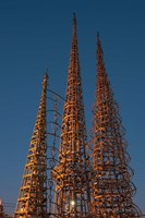 Low angle view of the Watts Tower, Watts, Los Angeles, California, USA by Panoramic Images - various sizes