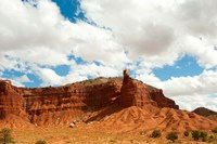 Rock formations under the cloudy sky, Capitol Reef National Park, Utah, USA by Panoramic Images - various sizes