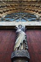 Virgin Mary statue with Jesus Christ at Reims Cathedral, Reims, Marne, Champagne-Ardenne, France by Panoramic Images - various sizes, FulcrumGallery.com brand