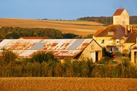Buildings in a town at morning, Nanteuil la Foret, Marne, Champagne-Ardenne, France by Panoramic Images - various sizes