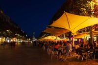 People at sidewalk cafes in a city, Place Drouet d'Erlon, Reims, Marne, Champagne-Ardenne, France by Panoramic Images - various sizes - $54.99