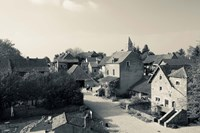 Houses in a village, Brancion, Maconnais, Saone-et-Loire, Burgundy, France by Panoramic Images - various sizes, FulcrumGallery.com brand