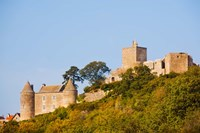Low angle view of a castle on a hill, Brancion, Maconnais, Saone-et-Loire, Burgundy, France by Panoramic Images - various sizes, FulcrumGallery.com brand