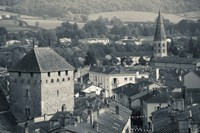 Abbey in a town, Cluny Abbey, Maconnais, Saone-et-Loire, Burgundy, France by Panoramic Images - various sizes