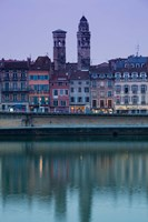 Buildings at the waterfront, Quai Jean Jaures, Macon, Burgundy, Saone-et-Loire, France by Panoramic Images - various sizes