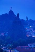 Rocher Corneille with Saint Michel d'Aiguilhe and Cathedral of Notre Dame Le Puy, Le Puy-en-Velay, Haute-Loire, Auvergne, France by Panoramic Images - various sizes, FulcrumGallery.com brand