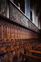 Choir stalls at Abbatiale Saint-Robert, La Chaise-Dieu, Haute-Loire, Auvergne, France by Panoramic Images - various sizes
