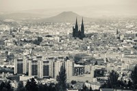 Cityscape with Cathedrale Notre-Dame-de-l'Assomption in the background, Clermont-Ferrand, Auvergne, Puy-de-Dome, France Fine Art Print