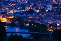 Elevated town view at dawn, Millau, Aveyron, Midi-Pyrenees, France by Panoramic Images - various sizes, FulcrumGallery.com brand