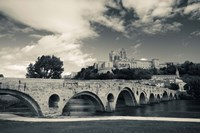 Pont Vieux bridge with Cathedrale Saint-Nazaire in the background, Beziers, Herault, Languedoc-Roussillon, France by Panoramic Images - various sizes