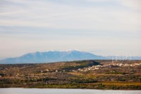 Town overview from Cap Leucate, Leucate, Aude, Languedoc-Roussillon, France by Panoramic Images - various sizes, FulcrumGallery.com brand