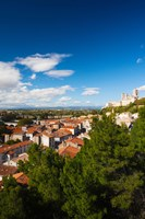 Elevated view of a town with Cathedrale Saint-Nazaire in the background, Beziers, Herault, Languedoc-Roussillon, France by Panoramic Images - various sizes, FulcrumGallery.com brand
