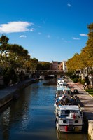 Canal de la Robine by the Cours Mirabeau, Narbonne, Aude, Languedoc-Roussillon, France by Panoramic Images - various sizes