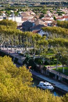 Canal de la Robine overview from the Donjon Gilles-Aycelin tower, Narbonne, Aude, Languedoc-Roussillon, France by Panoramic Images - various sizes