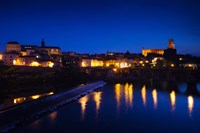 Town with Cathedrale Sainte-Cecile at evening, Albi, Tarn, Midi-Pyrenees, France by Panoramic Images - various sizes, FulcrumGallery.com brand