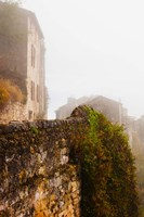 View of a town in fog, Cordes-sur-Ciel, Tarn, Midi-Pyrenees, France by Panoramic Images - various sizes, FulcrumGallery.com brand