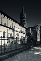 Entrance of the Basilica of St. Sernin, Toulouse, Haute-Garonne, Midi-Pyrenees, France Fine Art Print