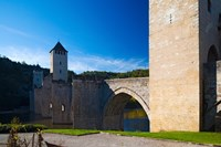 Medieval bridge across a river, Pont Valentre, Lot River, Cahors, Lot, Midi-Pyrenees, France by Panoramic Images - various sizes