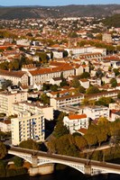 Elevated view of a town, Cahors, Lot, Midi-Pyrenees, France by Panoramic Images - various sizes, FulcrumGallery.com brand