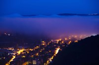 Elevated view of a Town viewed from Mont St-Cyr at dawn, Cahors, Lot, Midi-Pyrenees, France by Panoramic Images - various sizes, FulcrumGallery.com brand