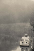 Morning fog over Lot River, Bouzies, Lot, Midi-Pyrenees, France by Panoramic Images - various sizes