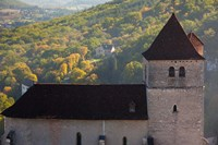 15th century church at St-Cirq-Lapopie, Lot, Midi-Pyrenees, France by Panoramic Images - various sizes